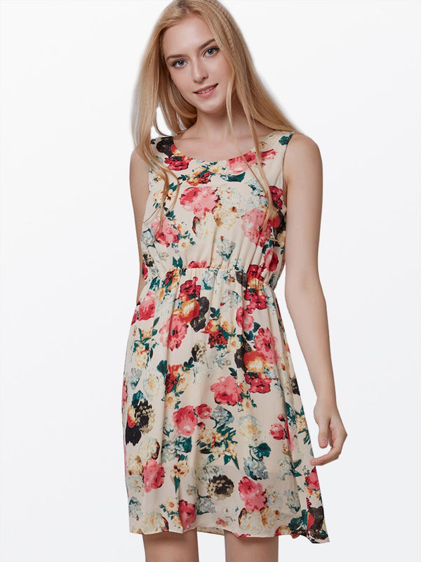 Size S XL Above Knee Sleeveless Spring Pullover Casual Dress