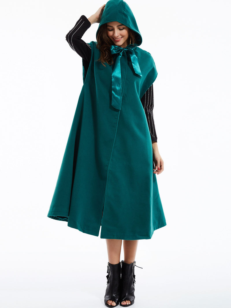 Polyester Plain Winter Cape
