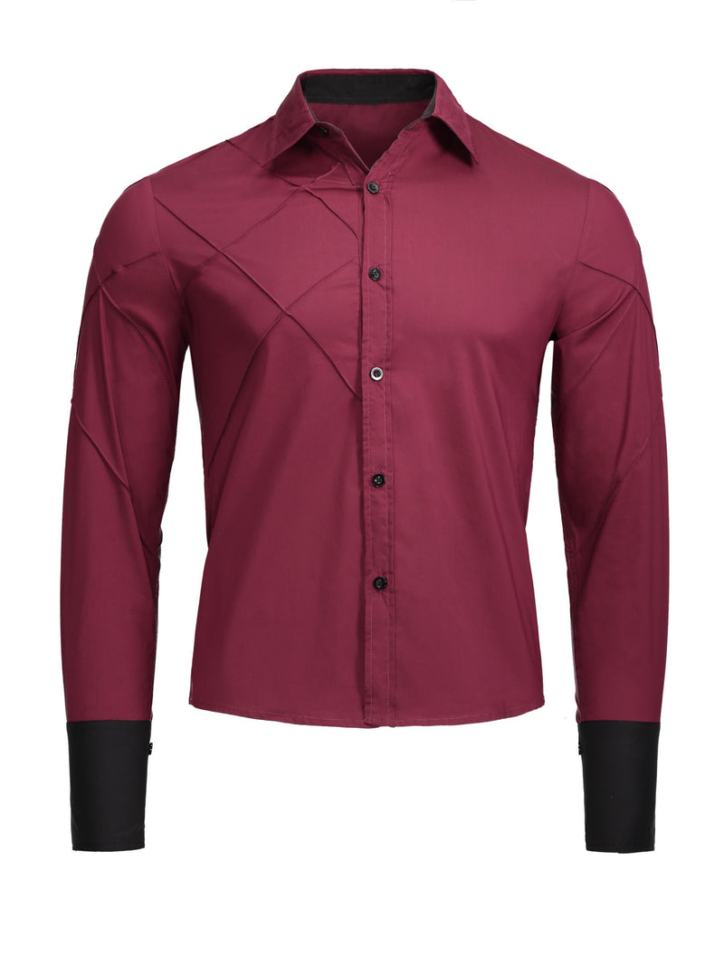 Size XS England Plain Button Single-Breasted Slim Shirt