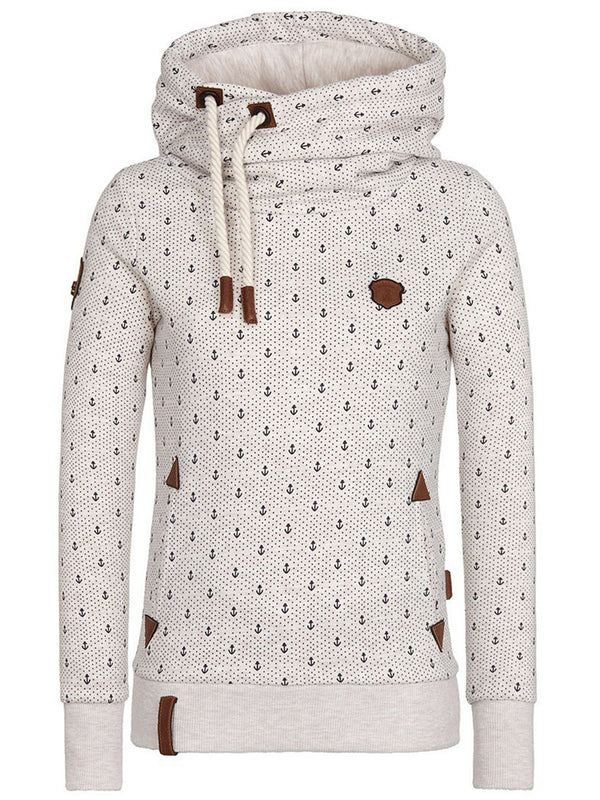 Size S Regular Print Long Sleeve Winter Petite Hoodie