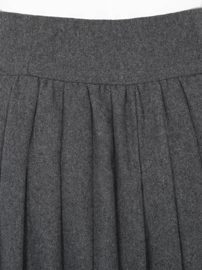 Size XL Pleated Plain Pleated High Waist Skirt