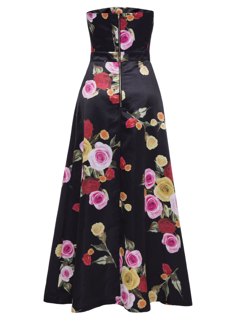 Sleeveless Ankle-Length Print Zipper A-Line Dress