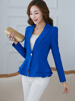 Size L XL Plain Long Sleeve Standard Spring Casual Blazer