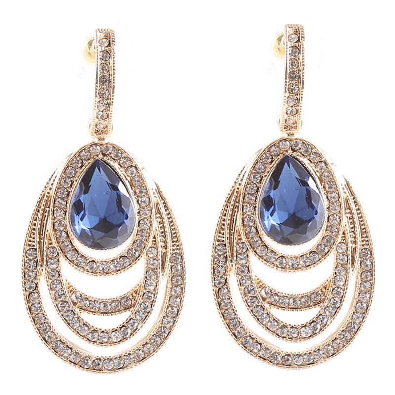 Diamante Water Drop European Gift Earrings