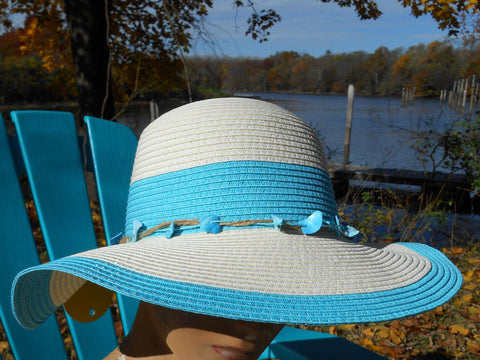 Ladies' Sun Hat with Shell Band