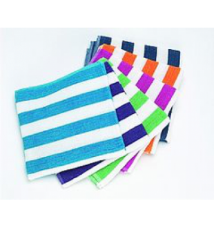 Beach towel - 27 x 54 - Cabana stripe