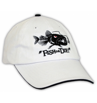 Ball cap - Fish or Die - White