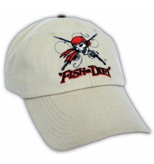 Ball cap - 'Fish or Die' - Pirate, stone - Get Reel Get Fish - Nautical Elements