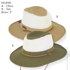 Hat, safari style - Cotton, mesh band - Guy Harvey #HG896