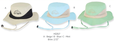 Hat, safari style - Cotton, mesh band - Guy Harvey #HG917