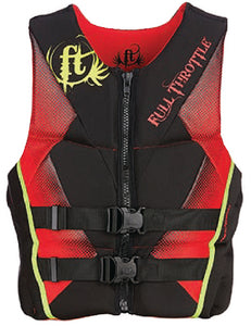 Life jacket, Type 3 - Full Throttle by Kent - Adult large - red/black