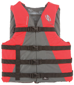 Life jacket, Type 3 - Stearns - Adult oversize - red/gray