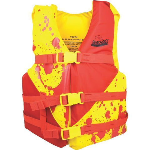 Life jacket - Seachoice - Youth - red/yellow