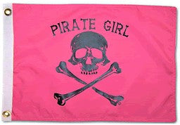 Flag - Pirate Girl - 12x18 - printed