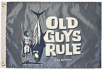 "Flag - Old Guys Rule - ""Size Matters"" - 12x18 - SALE"