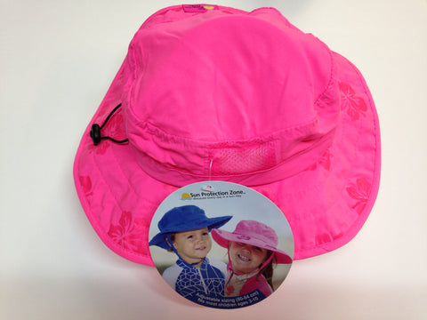 Safari hat - Child's - UV protection - Pink or blue