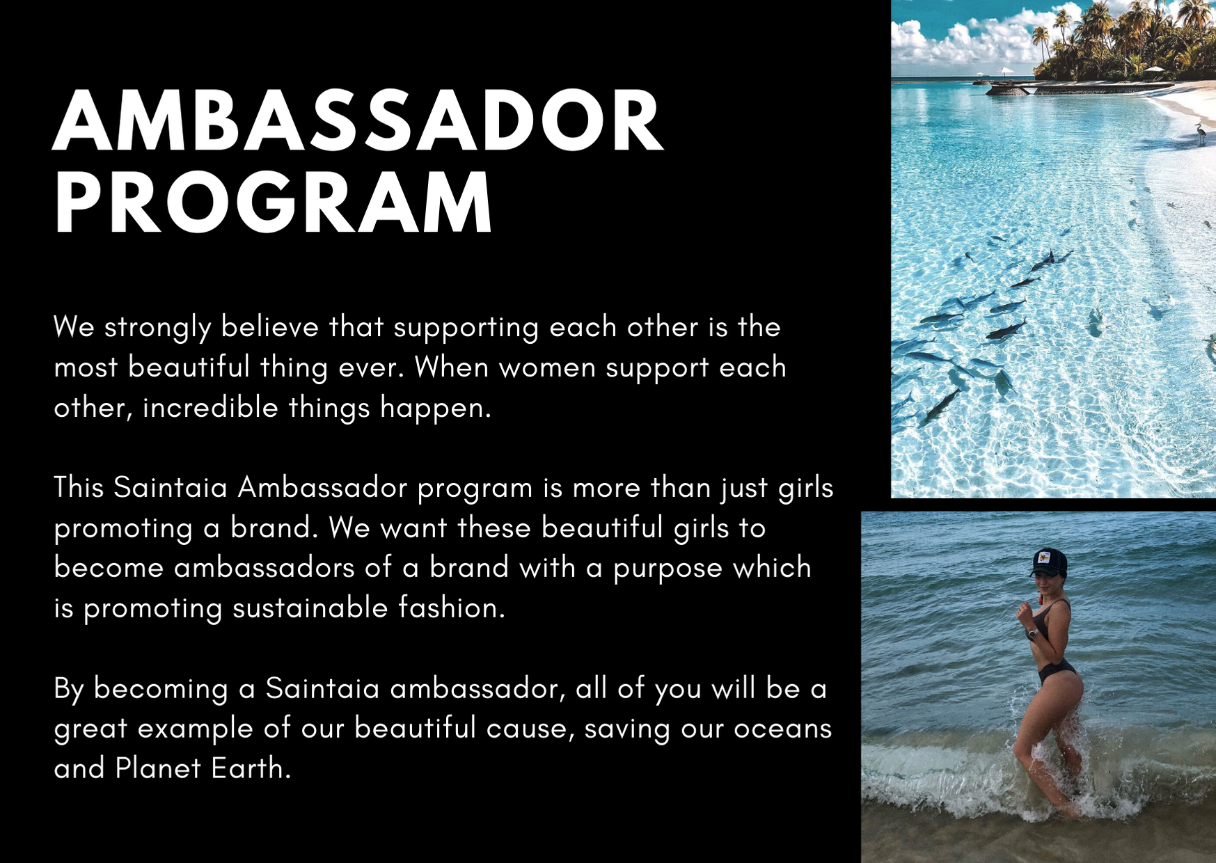SAINTAIA AMBASSADOR PROGRAM