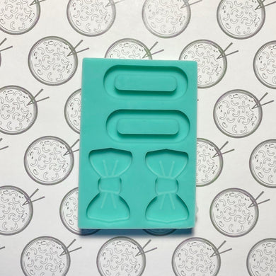 Hair Bows and Clips Silicone Mold for Resin