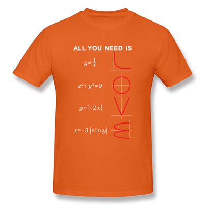 Geometric Algebra Equation Graph Tshirts A ll You Need Is Love Math Science Problem Black Fashion TeeShirt Plus Size New T Shirt