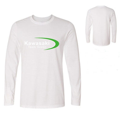 Mens Long Sleeve T Shirts Kawasaki Ninja team green Men's t-shirt youth boy casual cotton tshirt homme tops tee fitness teeshirt