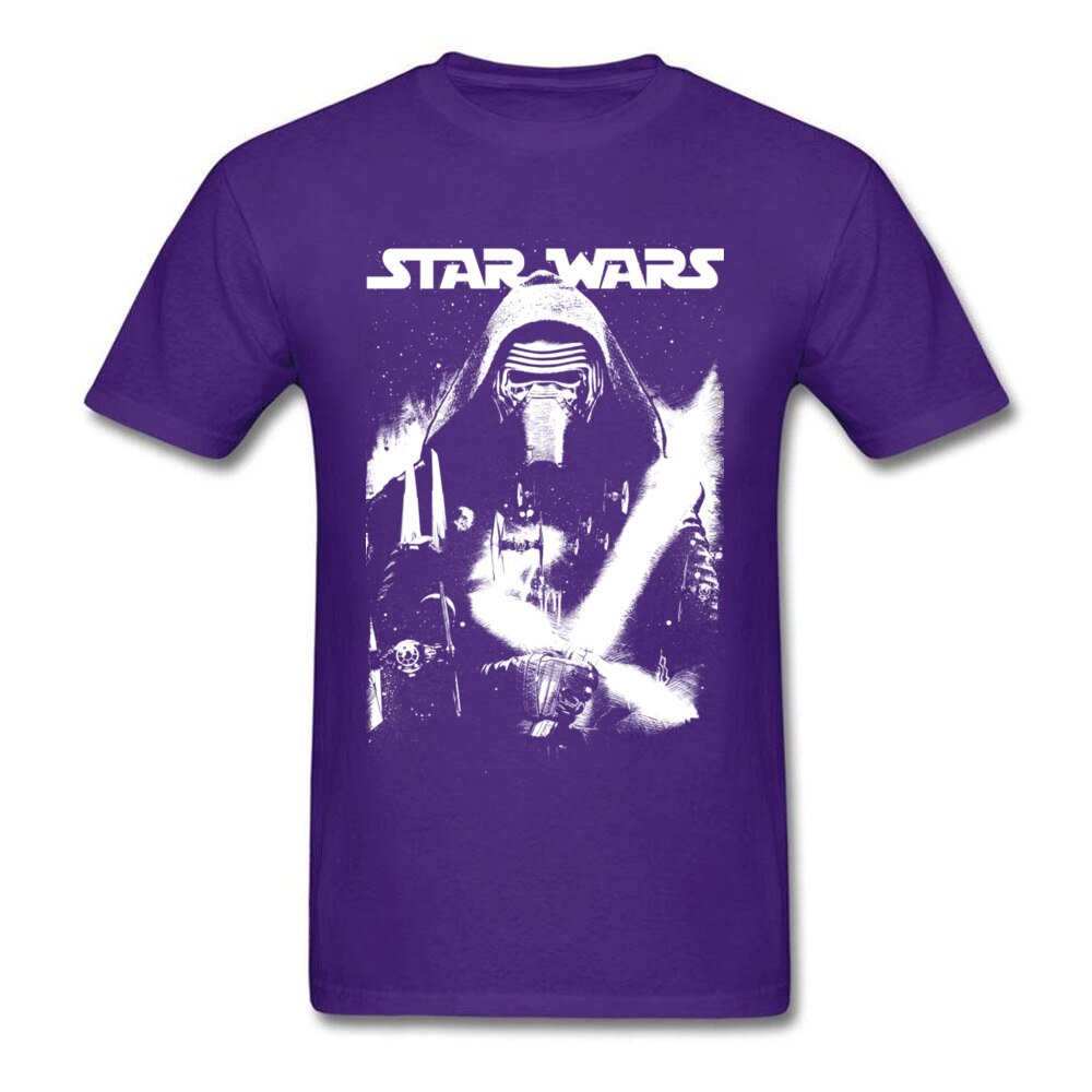 Star Wars Tshirt Kylo Ren Street Art Jedi T Shirt Avengers Civil War Power T-Shirt Homme Teeshirt Men's Popular Black Tops