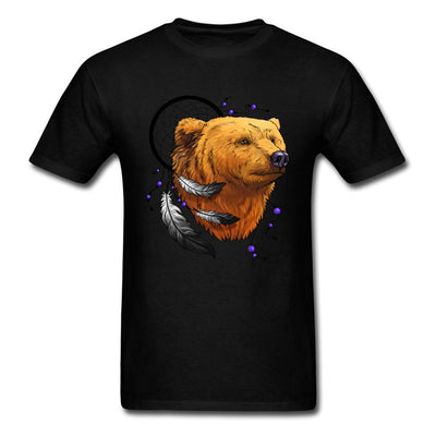 Latest Design T-shirts Cheap Men's Good Quality Brand Teeshirt Round Neck Indian Bear Pure Cotton Men's Tops Tees Printed