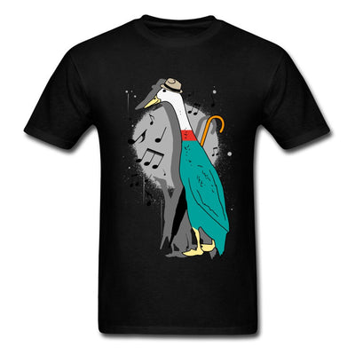 Discount Custom T-Shirts Music Jazz Duck Illustration Round Collar Pure Cotton Short Sleeve T Shirt Best Design Cartoon Teeshirt