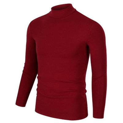 t shirt men t-shirt long sleeve tshirt half turtleneck t shirts cotton winter spring basic t-shirts man clothing tops streetwear