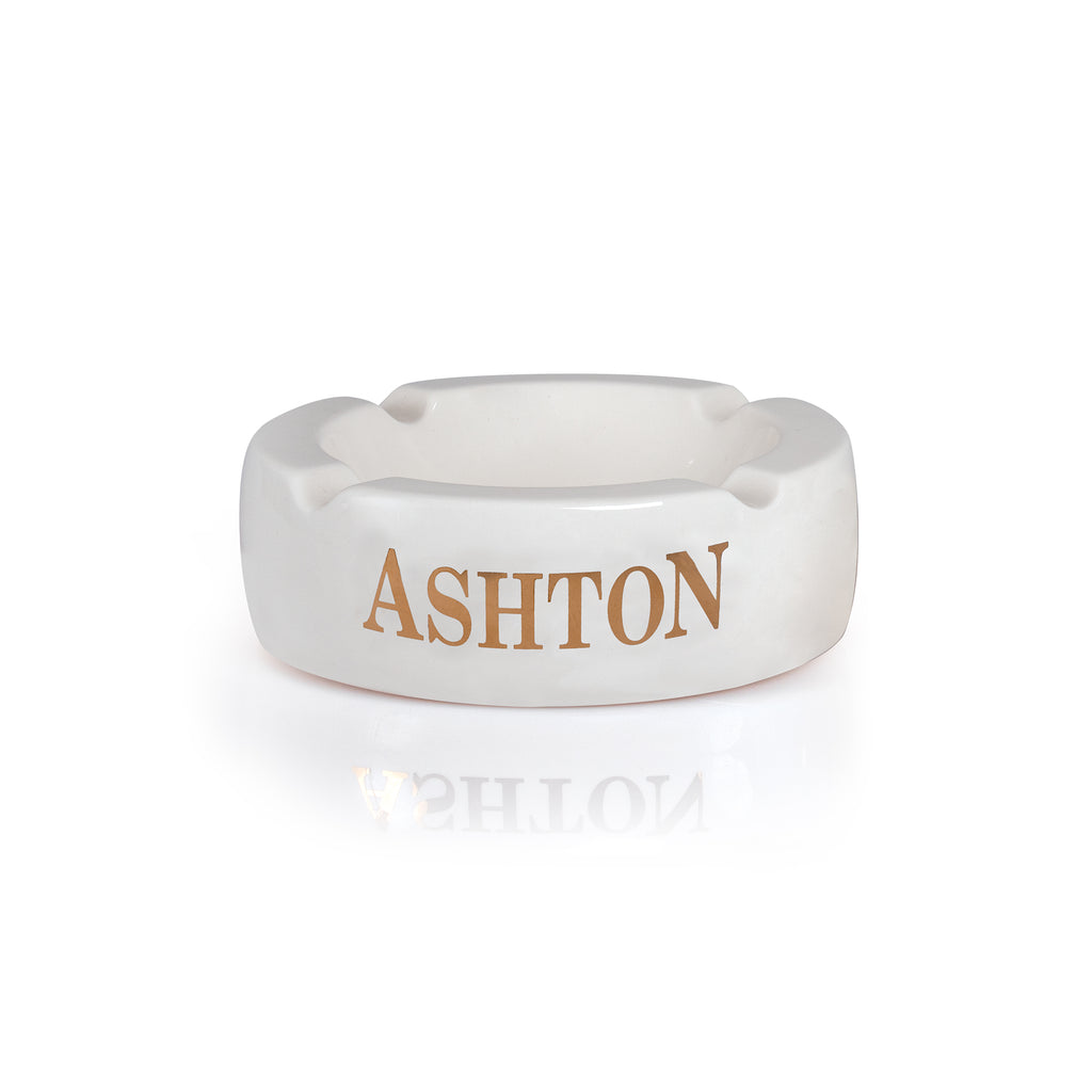Ashton Round Ceramic Ashtray