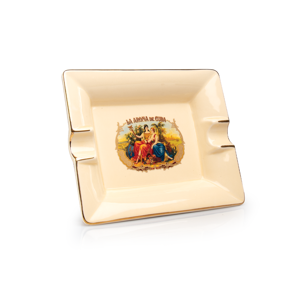 La Aroma de Cuba Vintage Ceramic Ashtray