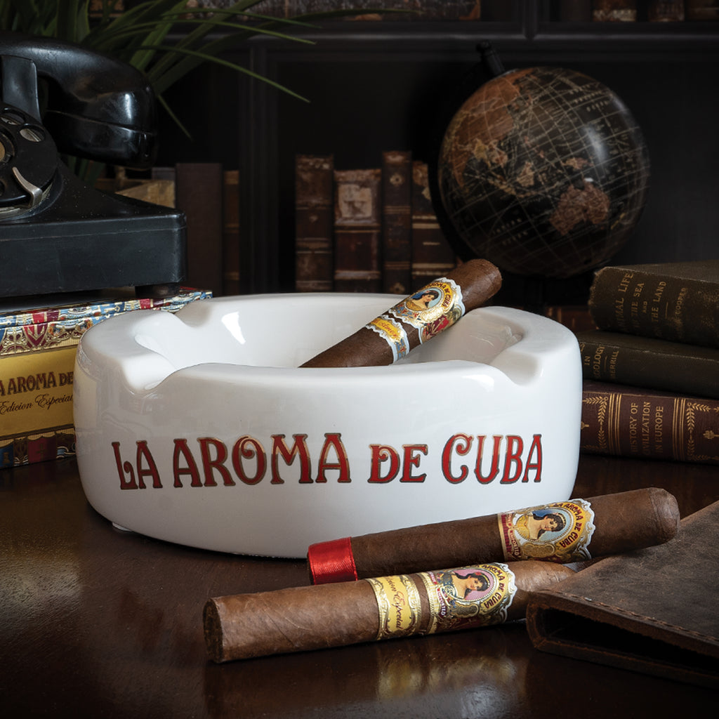 La Aroma de Cuba Round Ceramic Ashtray