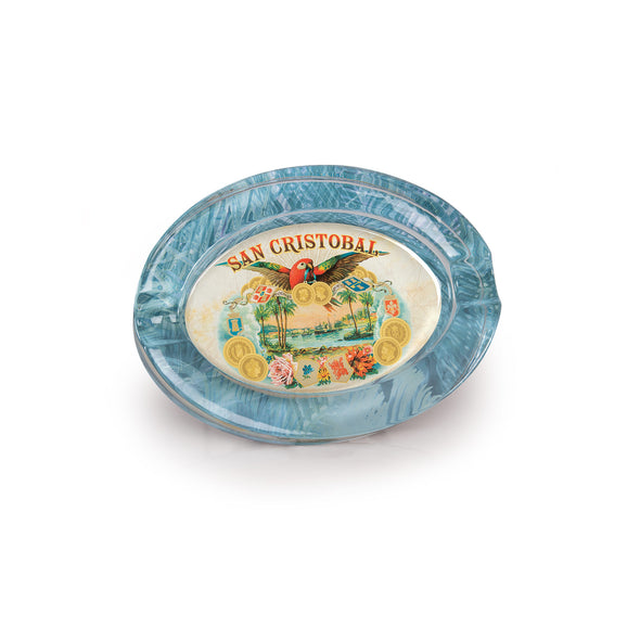 San Cristobal Oval Crystal Ashtray