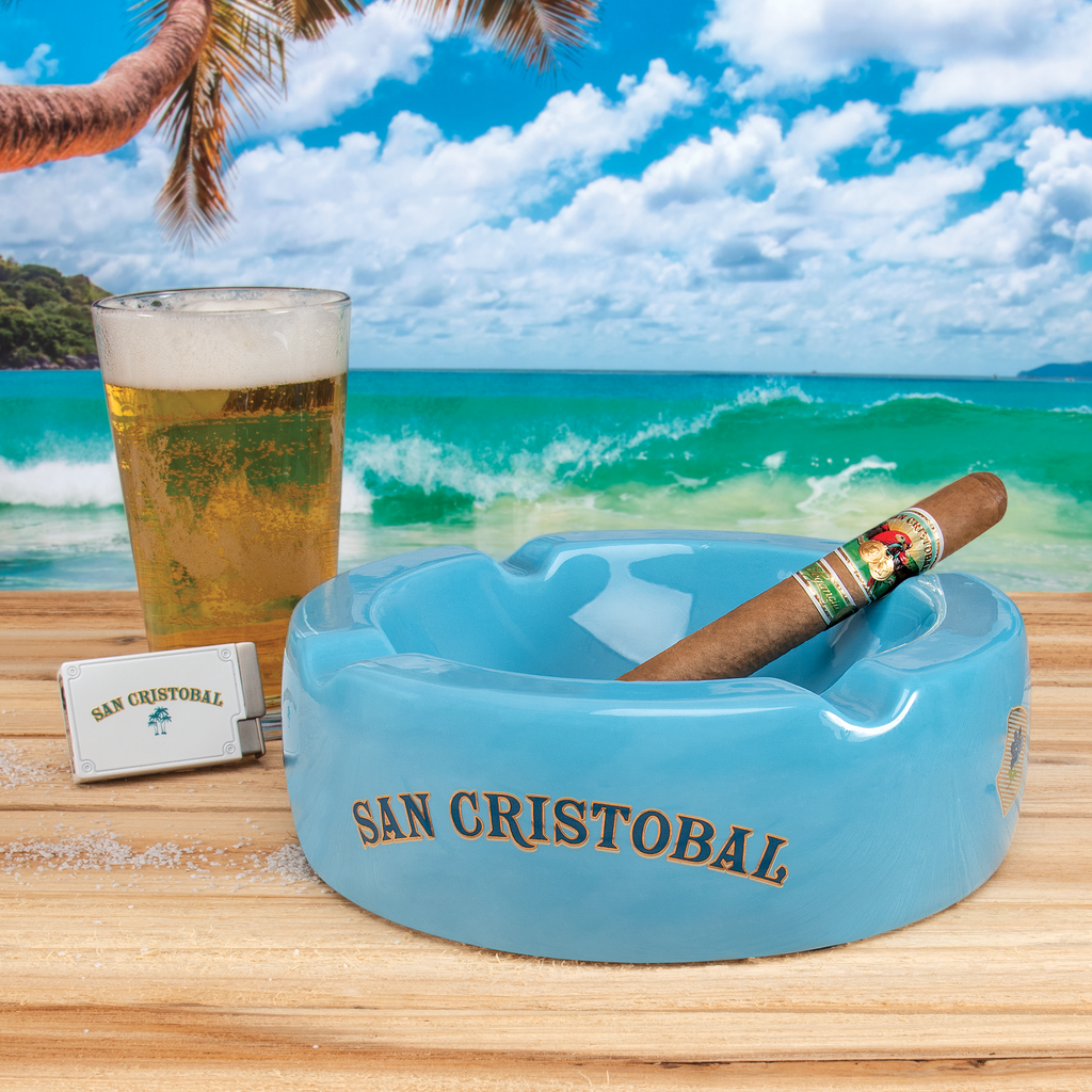 San Cristobal Round Ceramic Ashtray