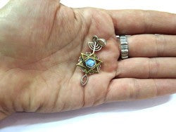 Grafted In | Silver  & Gold pendant with Roman Glass