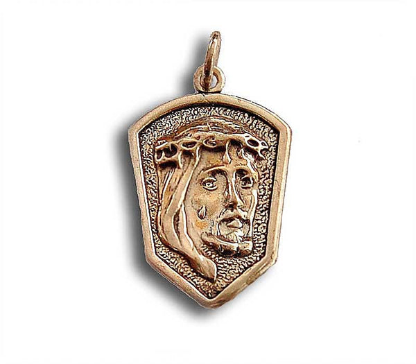 Jesus face Medallion- Silver