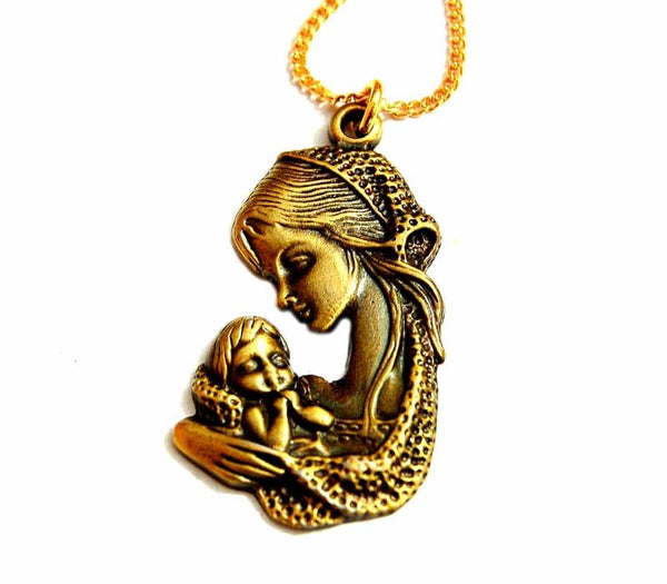 Mother Mary & baby Jesus pendant free shipping