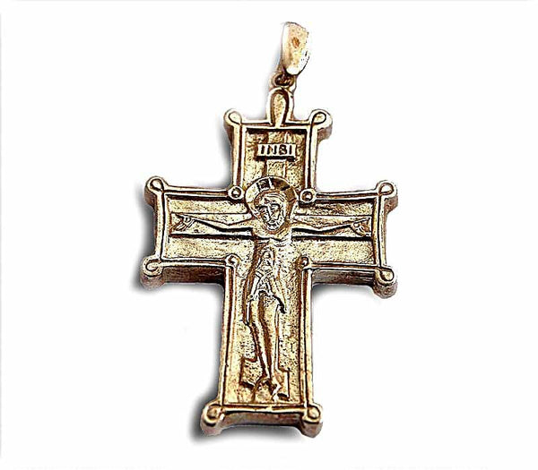 Orthodox Crucifix -silver - Free shipping