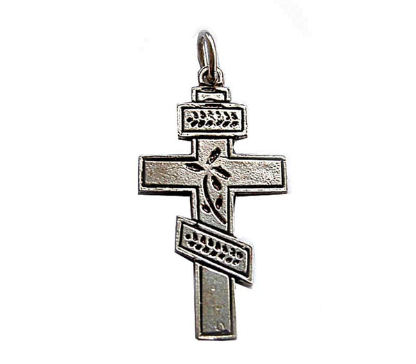 Silver Russian Cross - Free shipping
