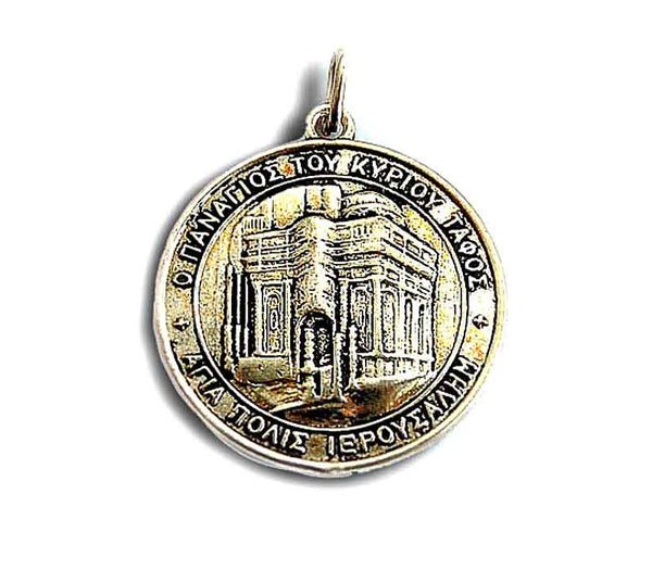 Tomb of Jesus medallion - Free shipping