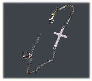 Cross Bracelet- 925 silver - Free shipping