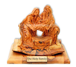 The Holy Family | Olive wood Statue