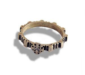 Rosary Ring  Jerusalem Cross