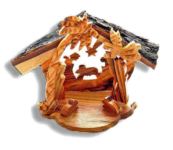 Mini Crib -olive wood-Bethlehem