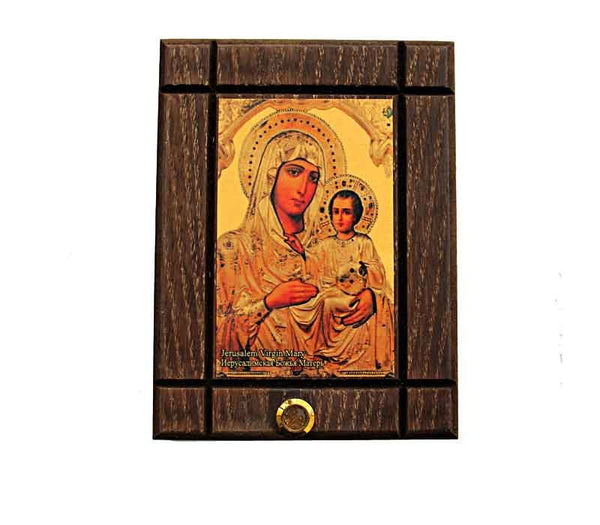 Icon | Jerusalem Virgin Mary | Jerusalem soil - Free shipping