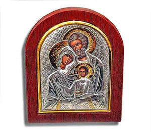 Holy Family - Silver icon