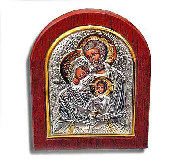 Holy Family - Silver icon - Free shipping