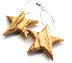 Stars- Christmas ornament | Olive wood