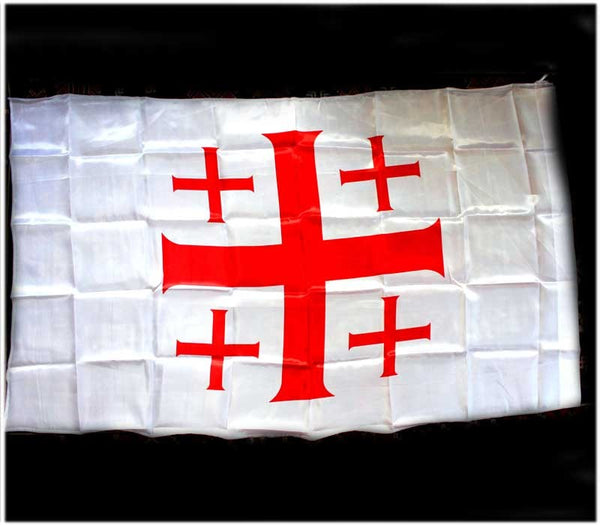 Jerusalem Cross Flag | 140 x 80 cm