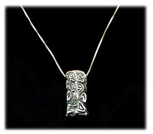 10 Commandments silver pendant