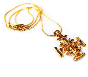 Jerusalem Cross pendant Gold plated
